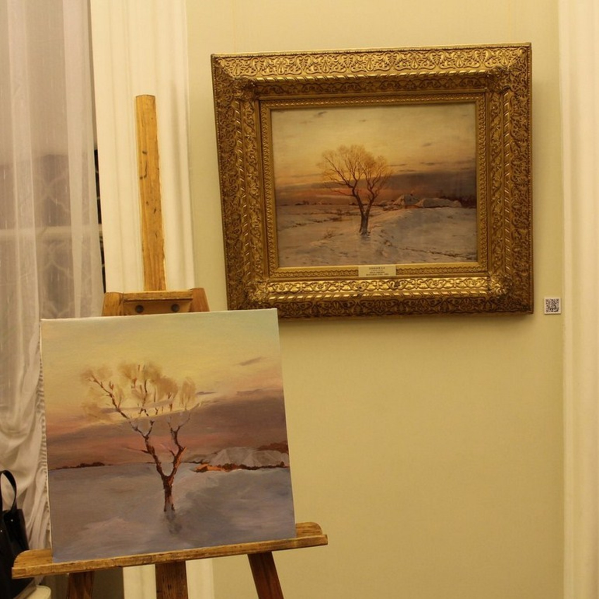 Courses copying paintings in the Perm Gallery